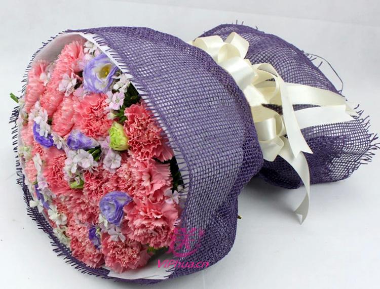 亲情围绕—快送鲜花网|母亲节花束|邮政订花|异地送鲜花|送康乃