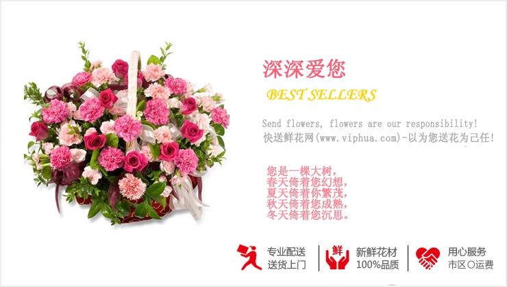 深深爱您—快送鲜花网|鲜花花篮|花篮订购|异地送花篮|慰问花篮|网上送鲜花花篮