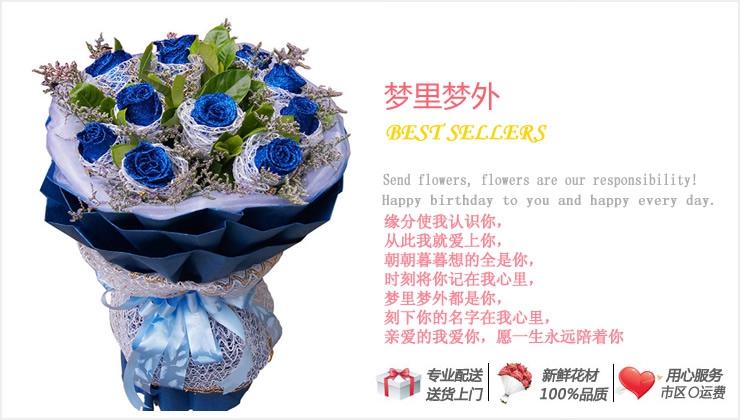 梦里梦外—快送鲜花网 情人节鲜花预定 鲜花团购 生日鲜花 网上订鲜花